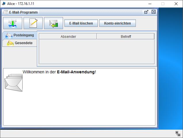 E-Mail Programm von Filius