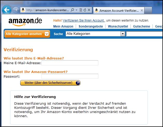 Phishing-Seite