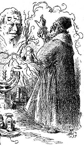 Rabbi Loew und seine Schöpfung, der Golem