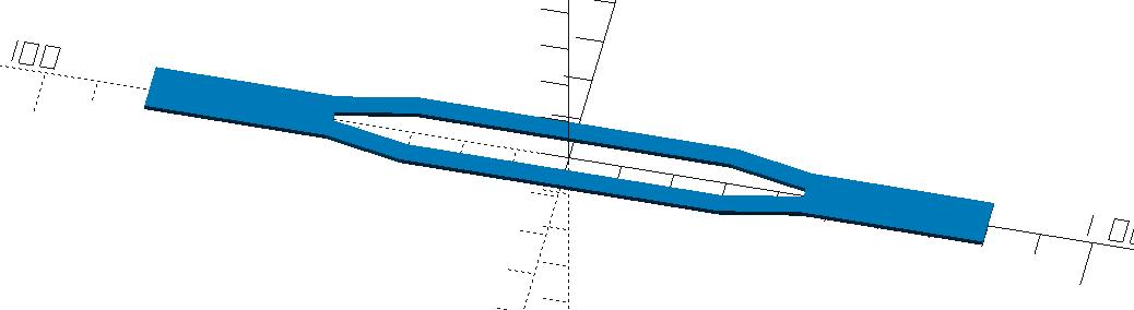 180mm langer symmetrischer Träger