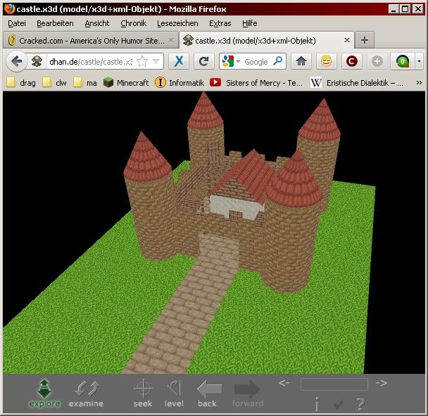 Eine X3D Szene, im Browser betrachtet