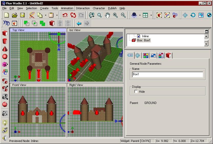 Ein Screenshot aus Flux Studio