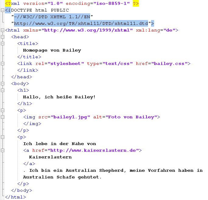 XHTML-Dokument