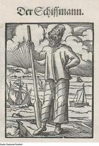 Alte Illustration eines Fährmanns
