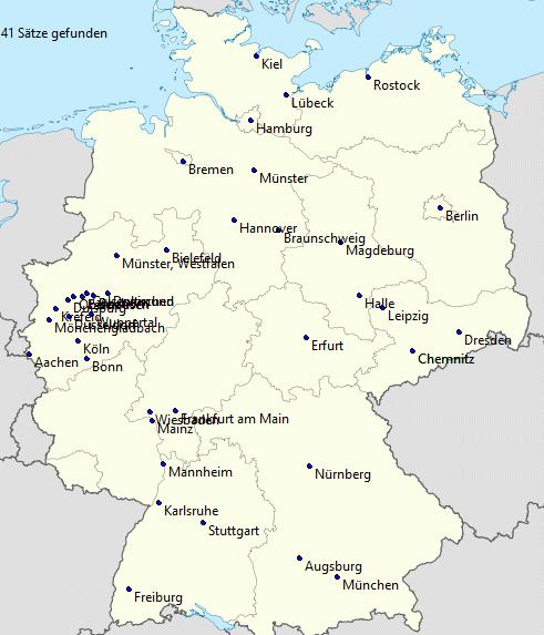 Städte eingeblendet in Wikipedia-Karte