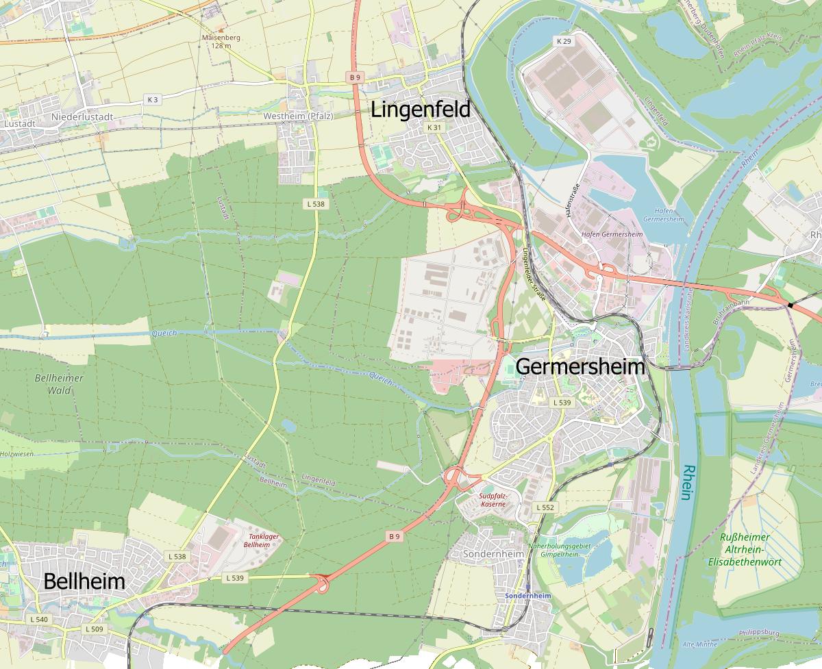 Germersheim mit Nachbarorten
