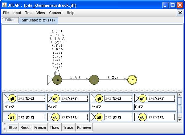 JFlap - Ableitung