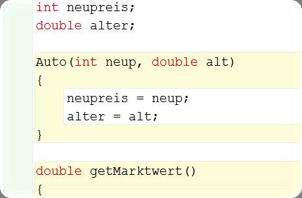 Konstruktor - Code