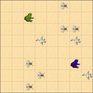Darstellung des Frog-Spiels