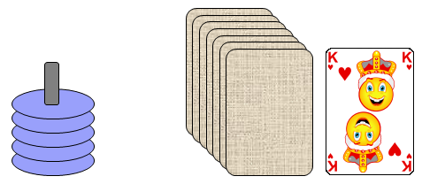 Stapel und Kartenstapel
