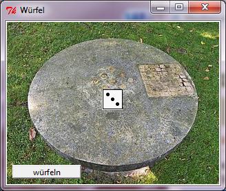 Anwendungsfenster mit Hintergrundbild